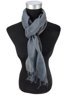 Schal in anthrazit dunkelgrau gestreift mit kleinen Fransen - Größe 180 x 30 cm