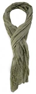 TigerTie Designer Schal in olivegrün einfarbig - Gr. 180 x 50 cm - Vorschau