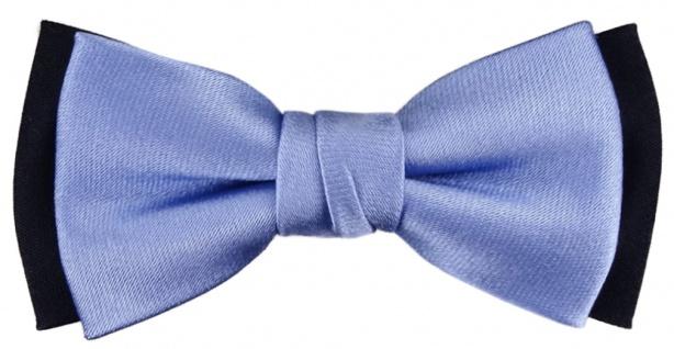 TigerTie Kleinkinder Baby Seidenfliege hellblau schwarzblau-marine - 100% Seide