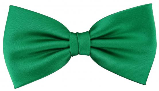 vorgebundene TigerTie Fliege Schleife in grün Einfarbig Uni + Geschenkbox