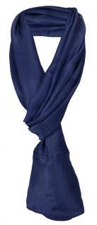 Damen TigerTie Seidenschal blau marine einfarbig - Schal Gr. 180 x 50 cm - Vorschau