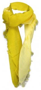 Halstuch gelb zitronengelb einfarbig Farbverlauf mit Fransen - Gr. 100 x 100 cm