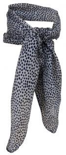 Damen TigerTie Nickituch in grau schwarz - Halstuch 100% Seide - 50 x 50 cm