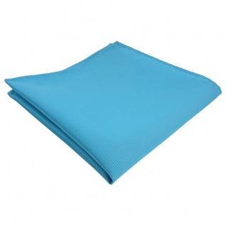 TigerTie Einstecktuch türkis türkisblau Uni Rips einfarbig - Tuch 100% Polyester