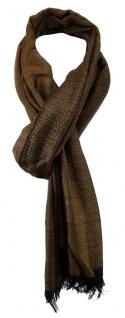 TigerTie Schal in braun schwarz gemustert mit kleinen Fransen