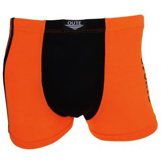 Shorts Boxershorts Unterhose Pants Retro orange-schwarz Baumwolle Gr. M