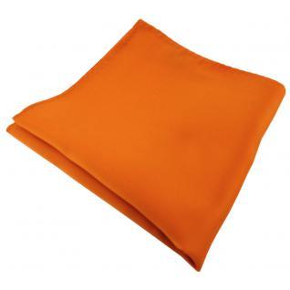 TigerTie Einstecktuch orange tieforange dunkelorange einfarbig - Tuch Polyester