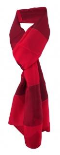 Damen Chiffon Halstuch rot dunkelrot gestreift Gr. 165 cm x 40 cm - Tuch Schal