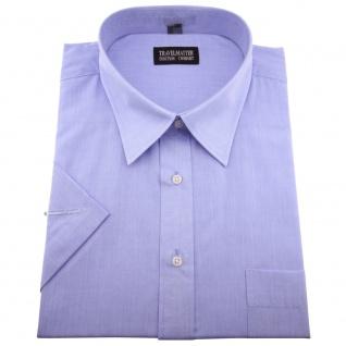TRAVELMASTER Business Herrenhemd blau - Hemd Gr.45/46 XXL kurzarm