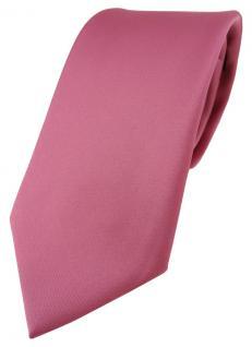TigerTie Designer Krawatte in hellpink einfarbig Uni - Tie Schlips