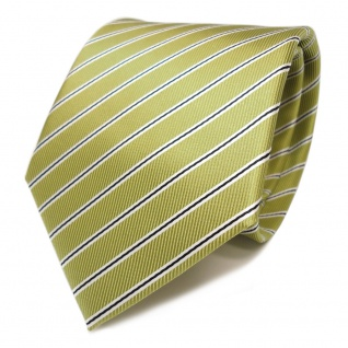 Designer Krawatte grün hellgrün schwarz weiß gestreift - Tie Schlips Binder - Vorschau 1