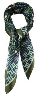 TigerTie Damen Nickituch Halstuch grün olive petrol grau braun beige gemustert