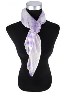 Damen Halstuch in violett flieder gemustert - Tuchgröße 100 x 100 cm