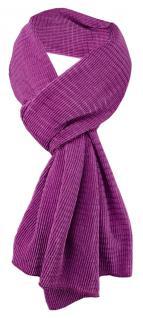 Damen Satin Schal Halstuch lila magenta gemustert Gr. 155 cm x 55 cm - Tuch