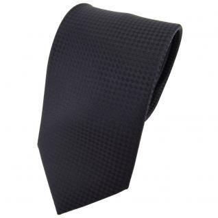 Designer Seidenkrawatte schwarz schwarzbraun gepunktet - Krawatte Seide Binder
