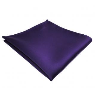 schönes TigerTie Einstecktuch lila dunkellila violett einfarbig - Tuch Polyester