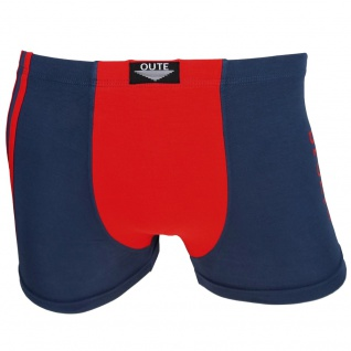Shorts Boxershorts Unterhose Retro Pants blau-rot Baumwolle Gr. L