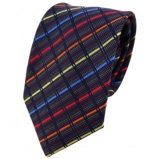 TigerTie Designer Krawatte in gold orange rot blau schwarz gestreift - Binder