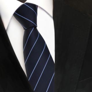 Schmale TigerTie Designer Krawatte - blau dunkelblau gestreift - Binder Tie
