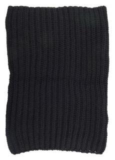 TigerTie Loop Schal schwarz einfarbig - Rundschal Grobstick Rippen-Optik - Vorschau 2