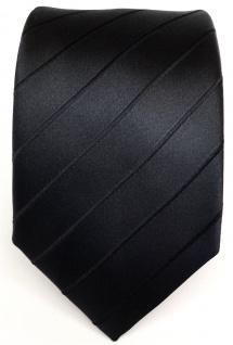 TigerTie Designer Seidenkrawatte schwarz gestreift - Krawatte Seide / Silk Tie - Vorschau 2