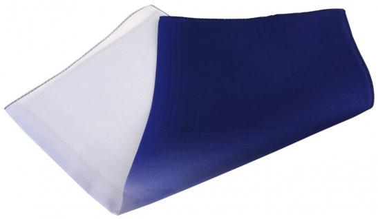 Multi TigerTie Designer Seideneinstecktuch in blau royal marine grauweiss Uni