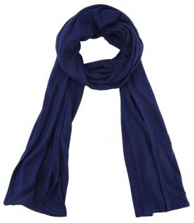 TigerTie - Schal in dunkelblau einfarbig Uni - Größe 180 x 30 cm - 100% Viscose