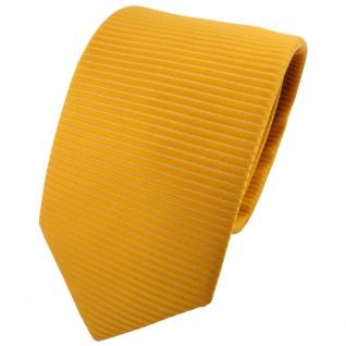 TigerTie Designer Krawatte gelb goldgelb gestreift - Krawatte Binder