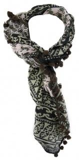TigerTie Designer Halstuch in olive dunkelgrün grau gemustert