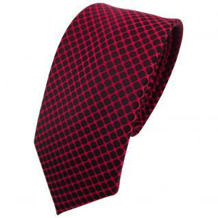 Schmale TigerTie Krawatte rot dunkelrot schwarz gemustert - Binder Tie
