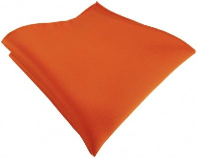 TigerTie Satin Einstecktuch in orange einfarbig Uni - Größe 26 x 26 cm