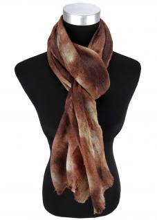 Damen Schal Halstuch braun rostbraun beige mit Fransen Gr. 185 cm x 75 cm - Tuch