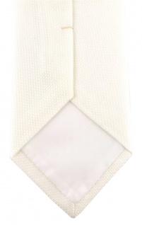 TigerTie Designer Krawatte Pique in creme gemustert - 100% Baumwolle - Vorschau 4
