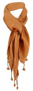 Damen Halstuch Dreieckstuch braun Uni Gr. 160 cm x 75 cm - Tuch Schal Baumwolle