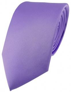 schöne feine Designer Satin Seidenkrawatte Uni lila flieder - Krawatte 100% Silk