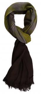 TigerTie Designer Schal in olivegrün gemustert - Gr. 180 x 50 cm