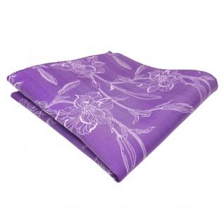 schönes Einstecktuch lila blaulila flieder Blumenmotiv - Tuch Polyester