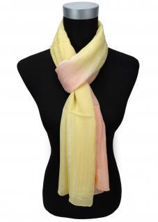 Schal in gelb orange silber gestreift Glitzerfäden - Gr. 180 x 50 cm - Halstuch