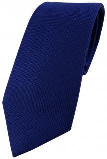 Blick. elementum Seidenkrawatte blau royal Punktstruktur - Krawatte 100% Seide