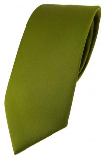 TigerTie Designer Krawatte in farngrün einfarbig Uni - Tie Schlips