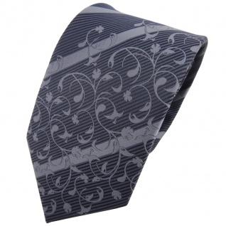 TigerTie Designer Krawatte anthrazit grau dunkelgrau gestreift - Schlips Tie
