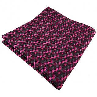 schönes TigerTie Einstecktuch lila magenta pink schwarz anthrazit grau gemustert