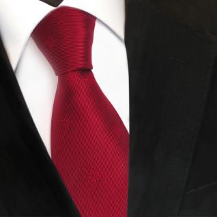 TigerTie Designer Seidenkrawatte rot karminrot gemustert - Krawatte Seide Silk Binder