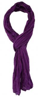 TigerTie - gecrashter Schal in lila einfarbig - Gr. 180 x 50 cm