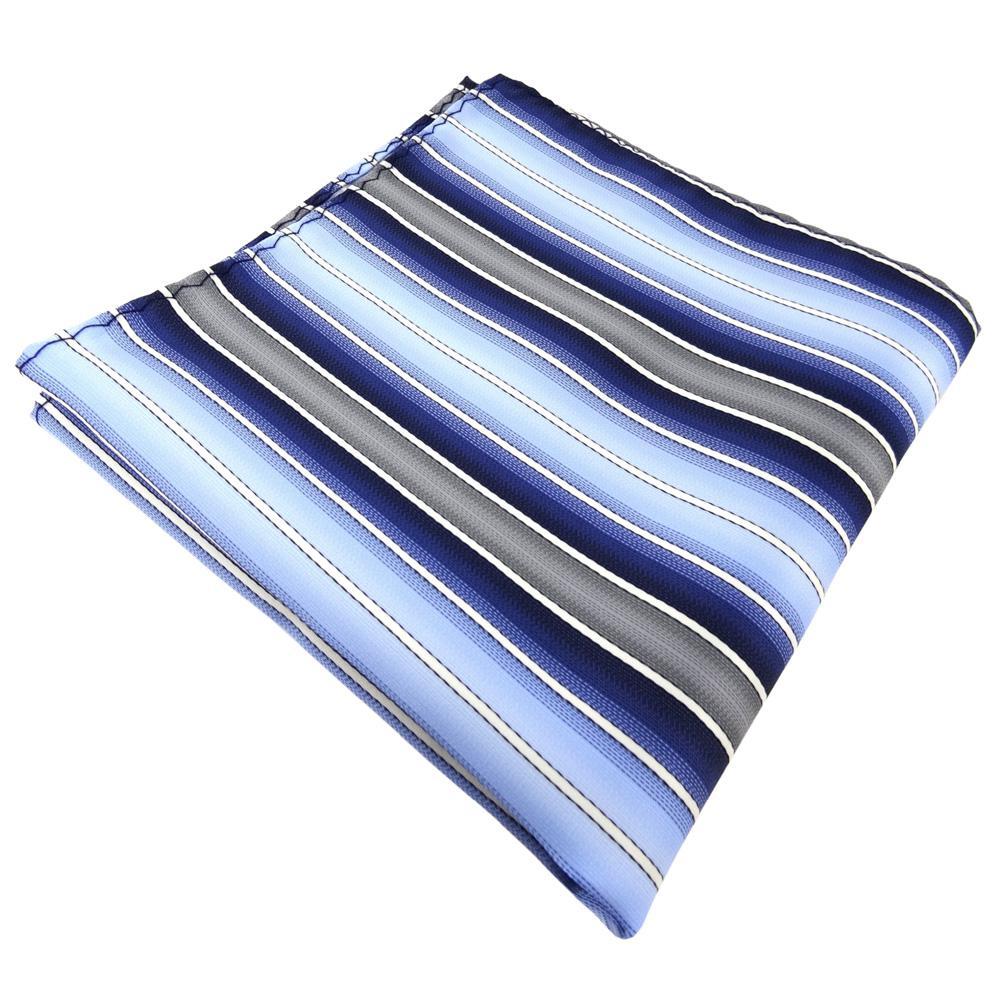 TigerTie Einstecktuch In Blau Hellblau Dunkelblau Creme
