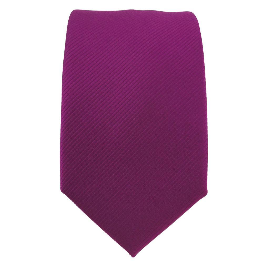 Binder Schmale TigerTie Designer Krawatte beige elfenbein champagner Uni Rips