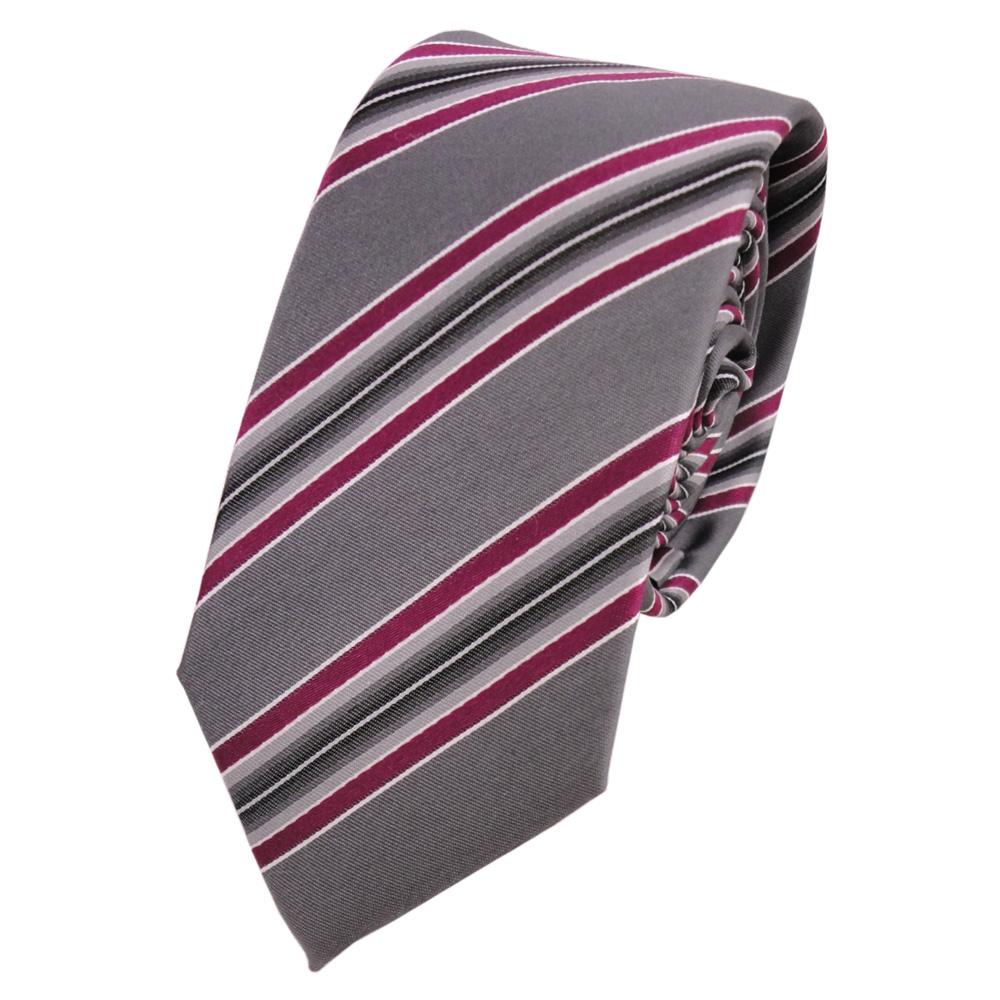 TigerTie Designer Seidenkrawatte in gestreift Krawatte 100/% Seide