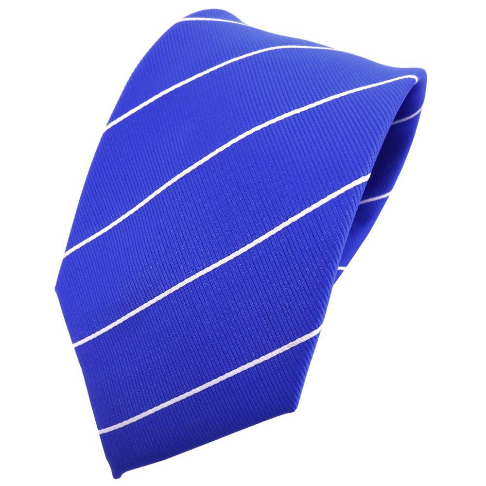 Einstecktuch blau ultramarinblau silber gepunktet schmale TigerTie Krawatte