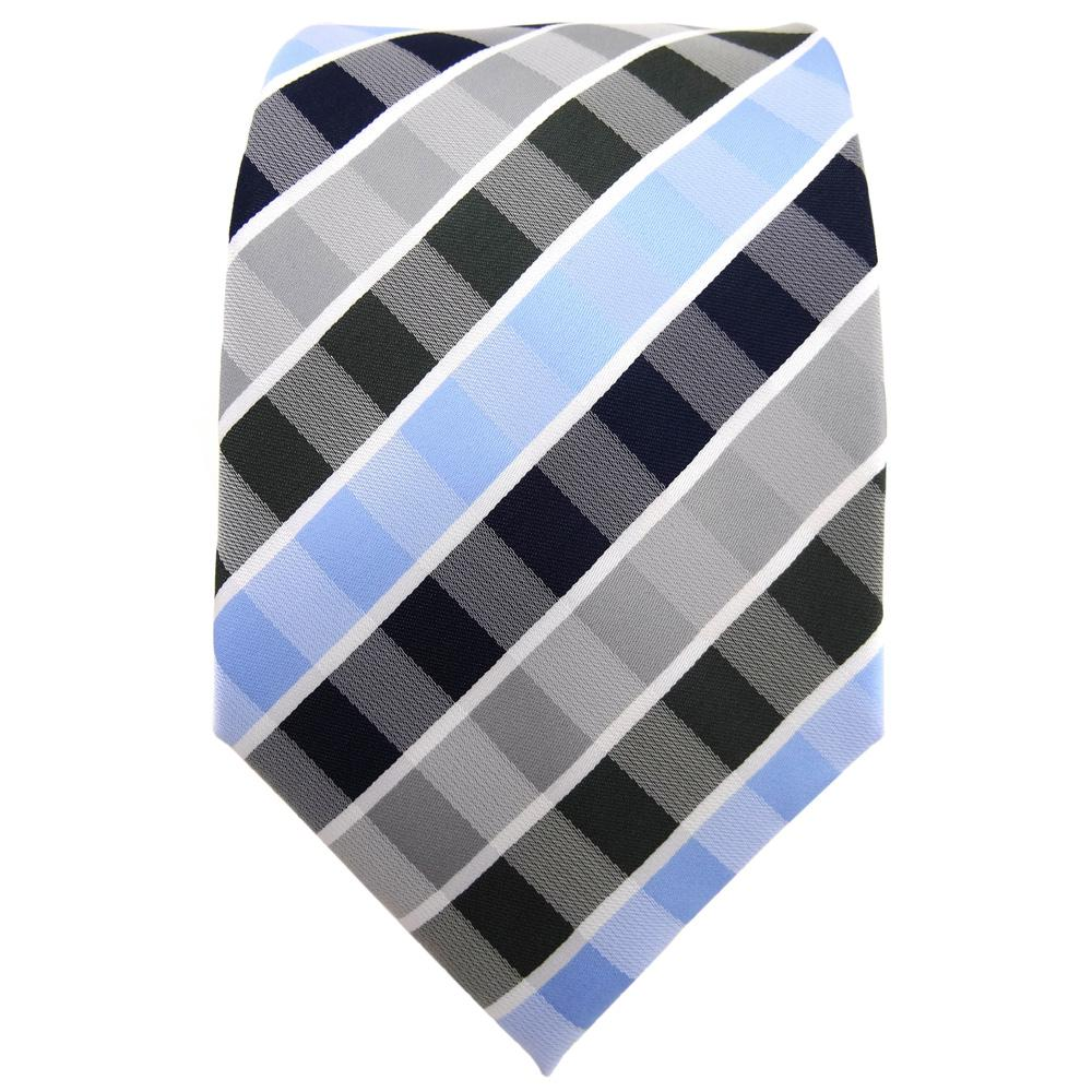 TigerTie Krawatte Blau Hellblau Dunkelblau Grau Anthrazit