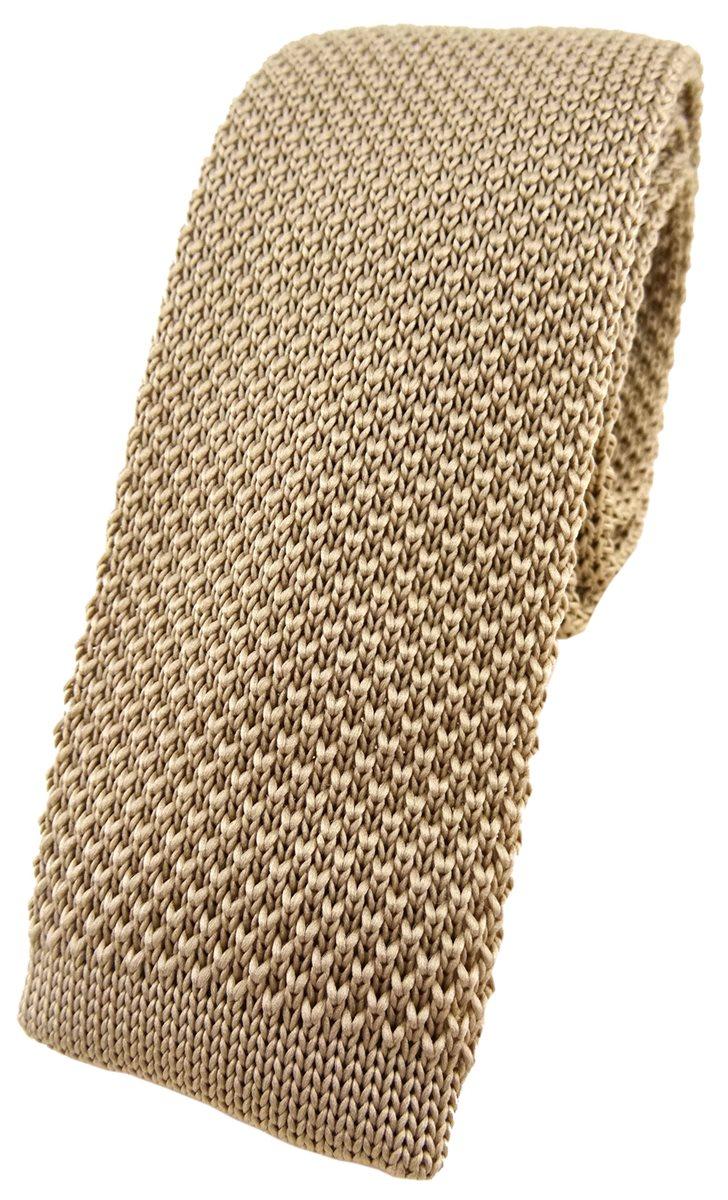 Krawatte hochwertige TigerTie Strickkrawatte in anthrazit einfarbig Uni